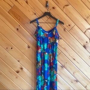 NWT Floral Cupio Jumpsuit Cold Shoulder Small